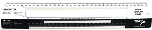 Postal Template Ruler Royal Mail Size Guide Postage Template PIP PPI Size Guide from Tiger