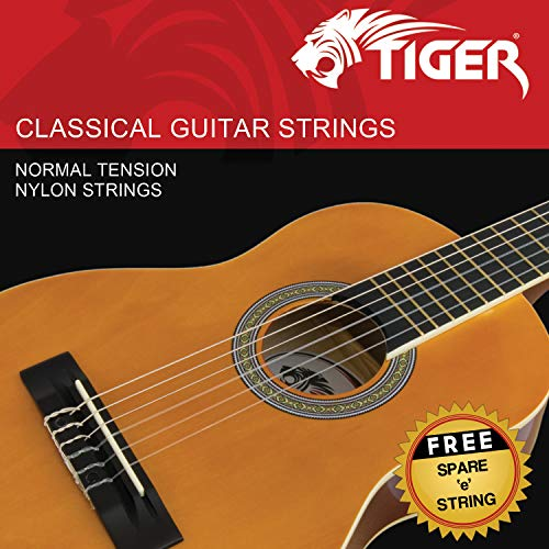 Tiger Classical Guitar Strings - Normal Tension Nylon Strings - Anti Rust from Tiger
