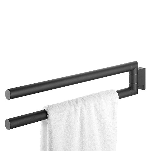 Tiger Bold Towel Rail, Stainless Steel, Black, 2.5 x 9.7 x 46.2 cm from Tiger