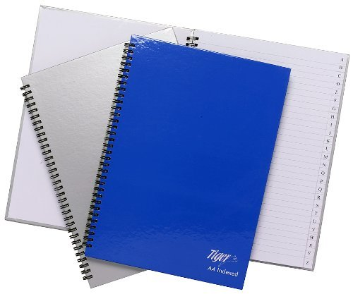Tiger Index A-Z Twinwire A4 Notebook from Tiger