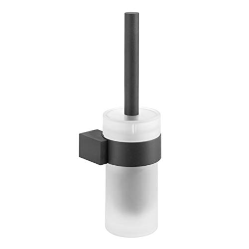 Tiger Nomad Toilet Brush and Holder, Stainless Steel, Black, 11.7 x 33.9 x 11.1 cm from Tiger