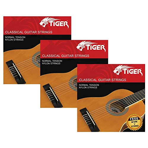 Tiger Pack of 3 Classical Guitar String Sets from Tiger