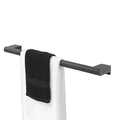 Tiger Bold Towel Rail, Stainless Steel, Black, 60 x 3.9 x 8.3 cm from Tiger