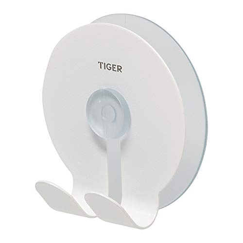 Tiger Twin Hook, Stainless Steel, White, 6.5 x 6.8 x 3.8 cm from Tiger