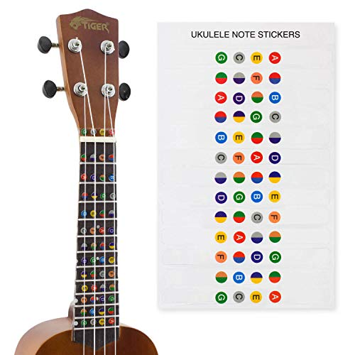 Ukulele Note Sticker Sheet for Beginners from Tiger