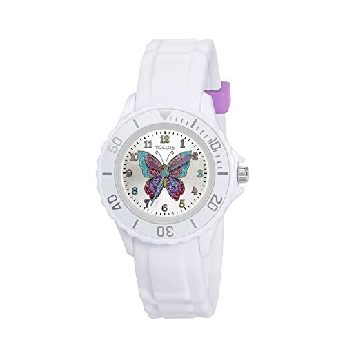 Tikkers Girls' Analogue Quartz Watch with Rubber Strap - TK0052 from Tikkers
