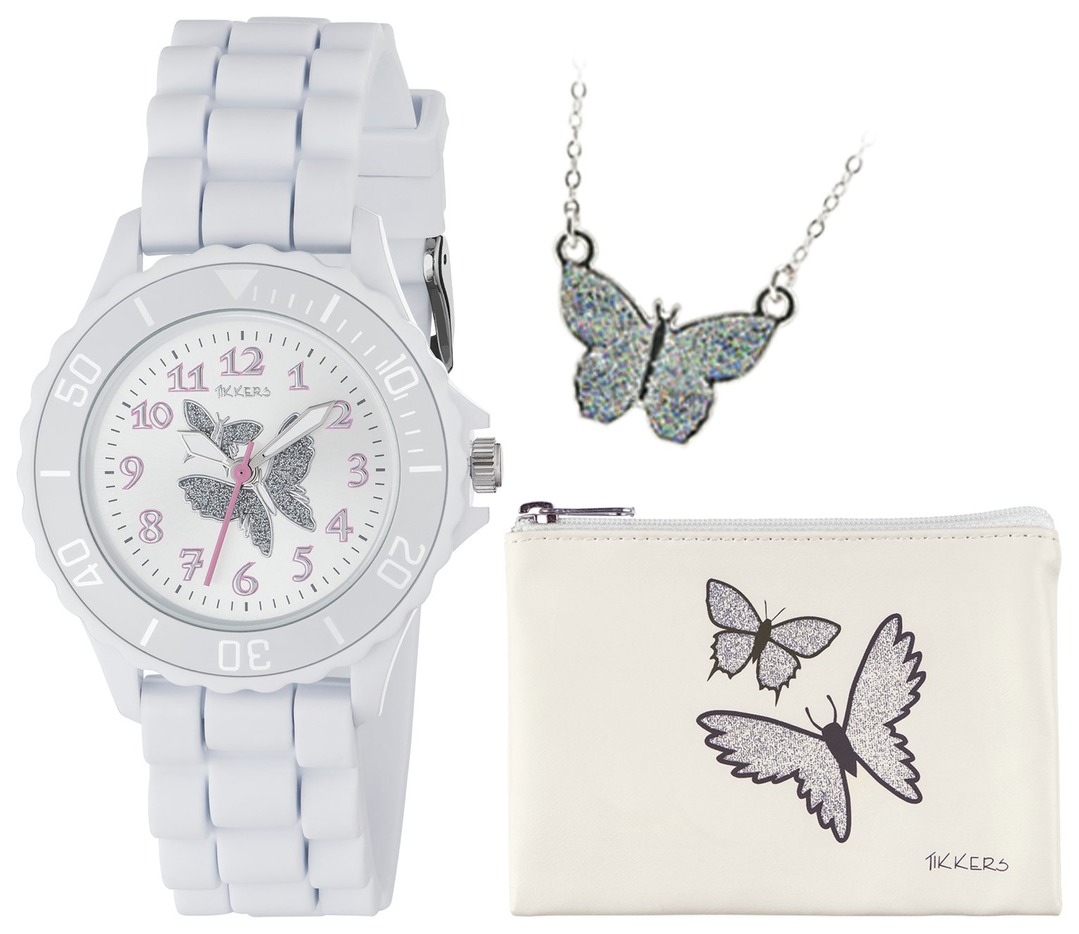 Tikkers - Girls Glitter Butterfly - Watch Set from Tikkers