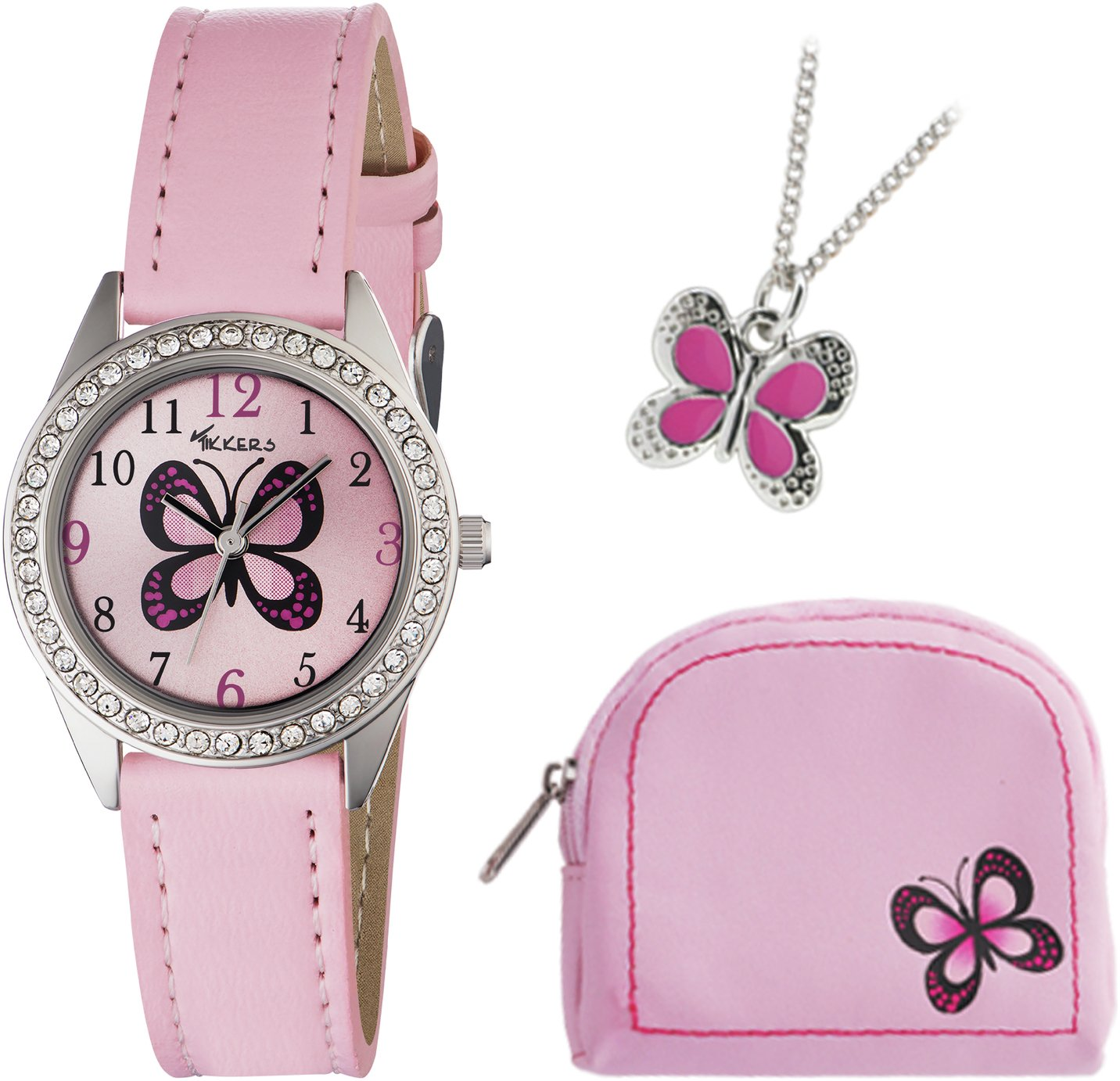 Tikkers - Girls Pink Butterfly - Watch Set from Tikkers