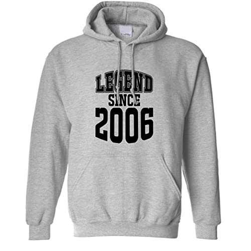 Legend Since 2001 16th Birthday Gift Made In 2001 16 Years Old Birth Year Year Born A Epic Legacy Celebration Anniversary Slogan Printed Design Unisex Hoodie Cool Birthday Gift Present from Tim And Ted