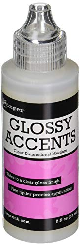 Ranger GAC17042 Glossy Accents Clear Plastic Varnish, 59 ml from Tim Holtz