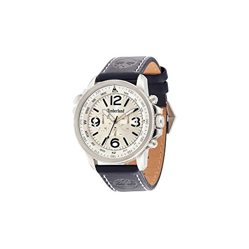 Timberland Men39s Analogue Quartz Watch with Leather Strap TBL.13910JS/07A from Timberland