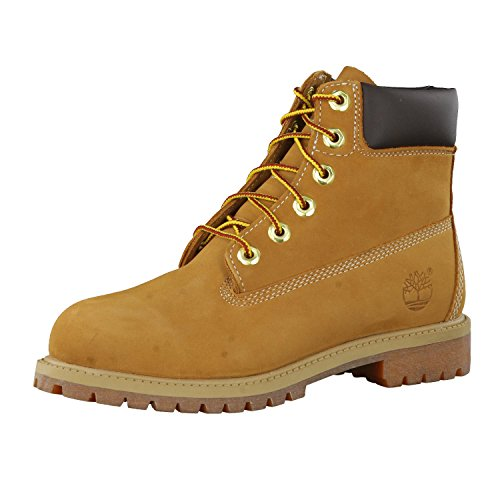 Timberland Unisex Kids 6 Inch Premium Waterproof (Junior) Lace up Boots, Wheat, 3.5 UK Child from Timberland