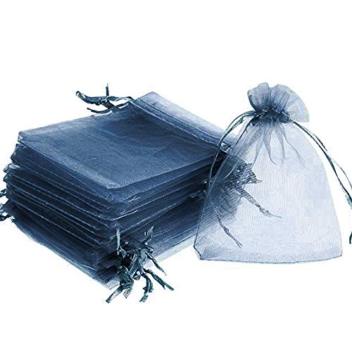 Time to Sparkle TtS 50pcs Pouches Organza Gift Bags Oragnza Wedding Party Favour Jewellery, 15x20cm, Navy Blue from Time to Sparkle