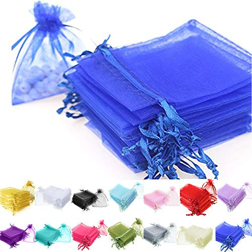 TtS 100pcs 7x9cm Organza Gift Bags Wedding Party Favour Jewellery Packing Pouches - Royal Blue from Time to Sparkle