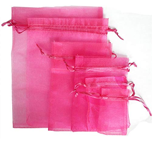 TtS 50pcs 15x20cm Organza Gift Bags Wedding Party Favour Jewellery Packing Pouches - Hot Pink from Time to Sparkle