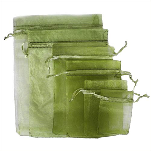 TtS 50pcs 20x30cm Organza Gift Bags Wedding Party Favour Jewellery Packing Pouches - Army Green from Time to Sparkle