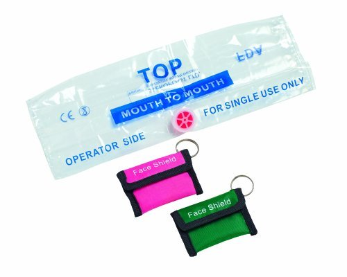 Timesco Resus Face Shield With Valve In Keyring Pink Pouch from Timesco