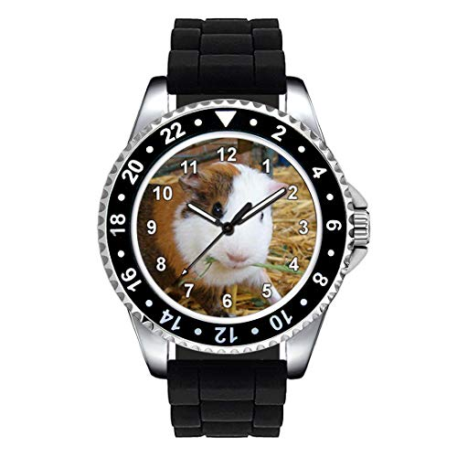 Timest - Guinea Pig - Unisex Wrist Watch with Black Silicone Strap Round Analogue Quartz SE0988SB from Timest