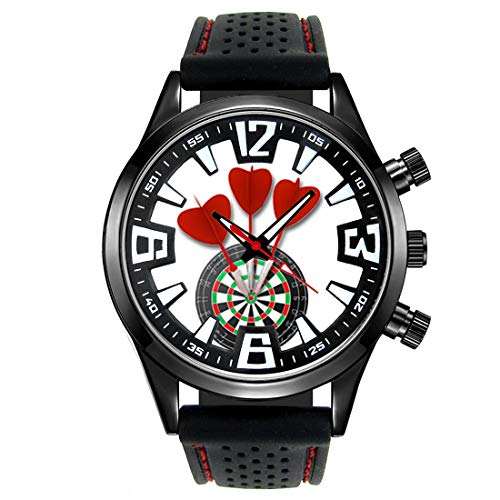 Timest - Love Darts - Men's Wrist Watch with Silicone Strap Round Analogue Quartz CSF047 from Timest