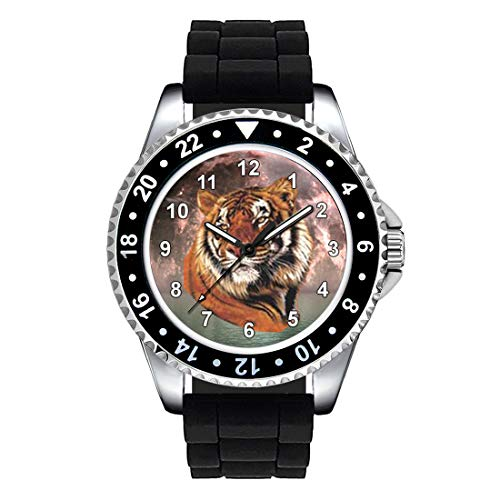 Timest - Tiger - Unisex Watch with Black Silicone Strap Round Analogue Quartz CSE076SB from Timest