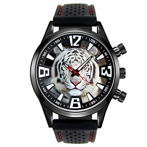 Timest - White Tiger - Men's Wrist Watch with Silicone Strap Round Analogue Quartz CSF041 from Timest