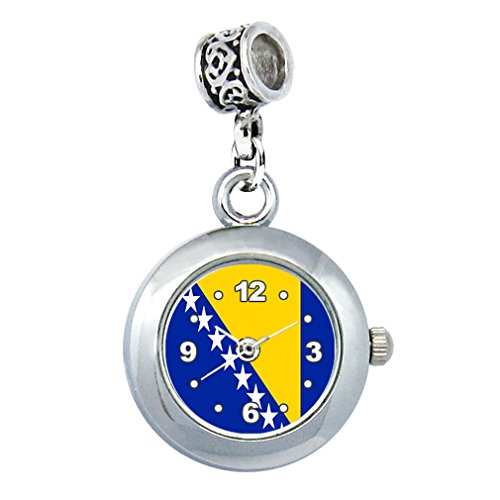 Timest - Bosnia and Herzegovina Country Flag - Bead Watch for Necklace or Bracelet EBA0219 from Timest