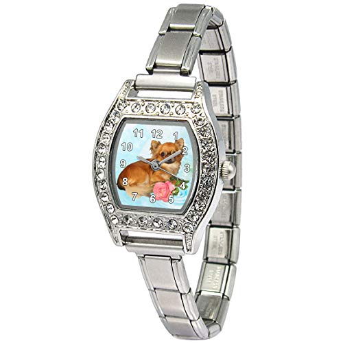 Timest - Chihuahua - Ladies Stainless Steel Italian Charms Bracelet Watch BJS065 from Timest