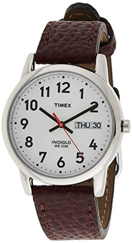 Timex Men's Easy Reader Brown Leather Watch - T20041 from Timex