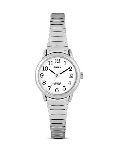 Timex Women's T2H371 Quartz Easy Reader Watch with White Dial Analogue Display and Silver Stainless Steel Bracelet Women's from Timex