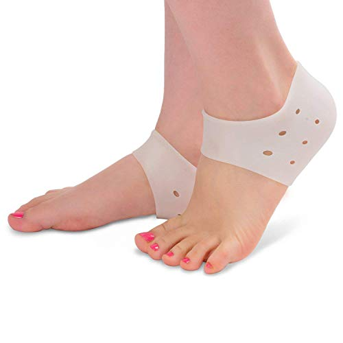 Plantar Fasciitis Heel Cushion Foot Sleeve(2 Pairs) - Breathable Protective Silicone Heel Protector to Instantly Relieve Pain and Pressure -Protect Bone & Heel Spurs from Tinkber