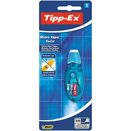 Tipp-Ex Micro Tape Twist Correction Tape - Pink or Blue Case, Pack of 1 from Bic