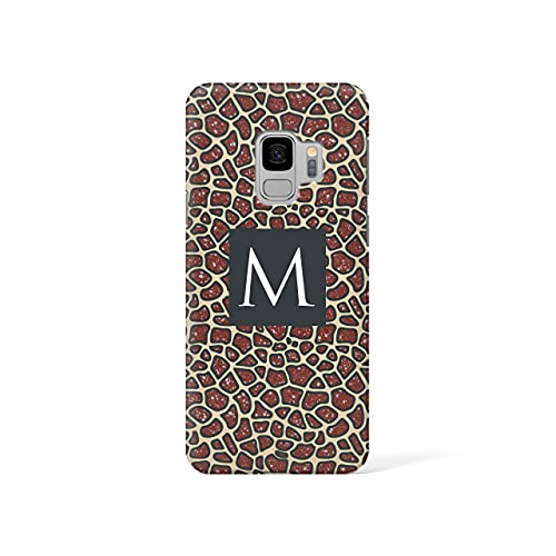 Personalised Samsung Galaxy S6 Edge Tirita Hard Case Cover PRINTED GLITTER, NOT REAL GLITTER Animal Print Gold Leopard Snake Skin Custom Initials Name Bling from Tirita LTD