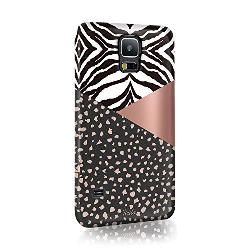 Samsung Galaxy S4 Tirita Hard Case Cover PRINTED GLITTER, NOT REAL GLITTER Animal Print Glitter Snake Rose Gold Leopard Skin Giraffe Tiger Africa from Tirita LTD