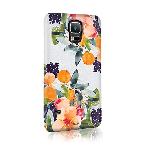 Samsung Galaxy S8 Tirita Hard Case Cover Floral Flowers Shabby Chic Autumn Violet Roses Design from Tirita LTD