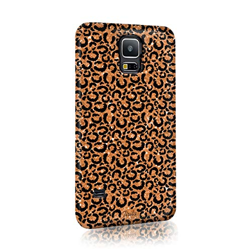 Tirita Hard Phone Case Compatible with Samsung Galaxy S9 Plus PRINTED GLITTER, NOT REAL GLITTER Animal Print Tiger Leopard Giraffe Snakskin from Tirita LTD