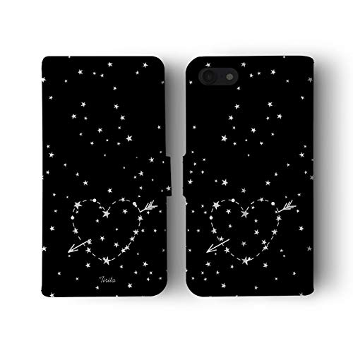 iPhone 6 & 6s Tirita Flip Wallet Case Cover PU Leather Moon Stars Constellations Galaxy Space from Tirita