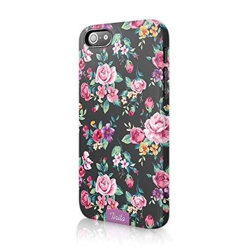 iPhone 5 / 5s / SE 2016 Tirita Hard Case Cover Shabby Chic Floral Retro Design Designer Pattern Snap-On Protective from Tirita