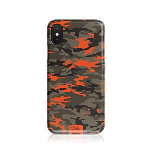 Tirita Hard Phone Case/Cover compatible with iPhone 7/8 / SE 2020 Camouflage Camo Pattern [06 - Neon Orange] from Tirita