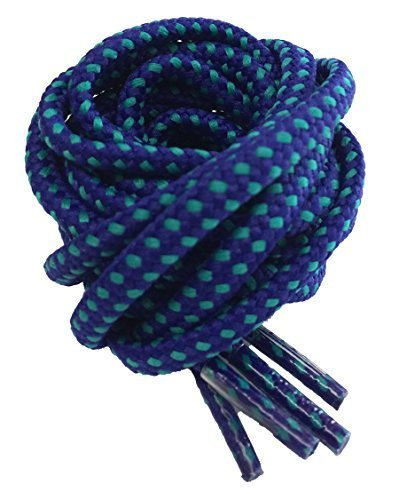 Round Strong Hiking/Walking Boot Laces Blue and Turquoise 180cm from Tobby