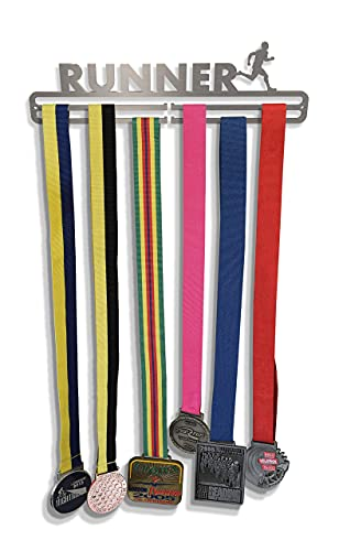 Medal Hanger Display 'Male Runner' Stainless Steel 2.0 from Tollington Stores
