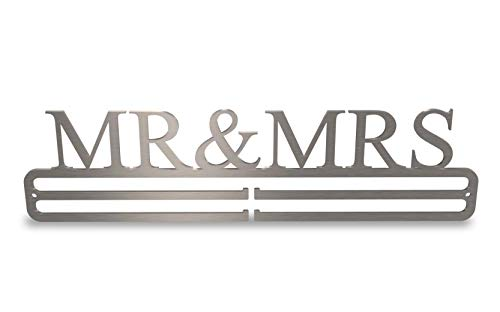 Tollington Stores Medal Hanger Display 'Mr & Mrs' Stainless Steel 2.0 from Tollington Stores