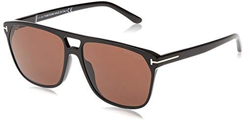Tom Ford FT0679 01E Shiny Black Shelton Square Sunglasses Lens Category 3 Size 59mm from Tom Ford