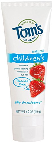 Tom's of Maine Fluoride Free Children's Toothpaste, Silly Strawberry, 4.20 oz from Tom's of Maine