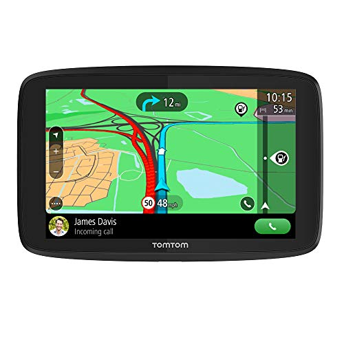 TomTom Car Sat Nav GO Essential, 5 Inch with Handsfree Calling, Siri, Google Now, Updates via Wi-Fi, Lifetime Traffic via Smartphone and EU Maps, Smartphone Messages, Capacitive Screen from TomTom
