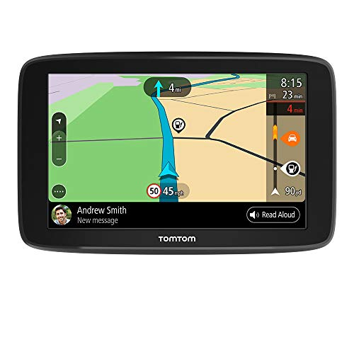 TomTom Car Sat Nav GO Basic, 5 Inch with Updates via WiFi, Lifetime Traffic via Smartphone and EU Maps, Smartphone Messages, Resistive screen from TomTom