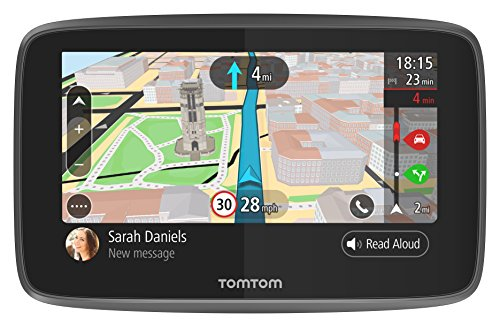 TomTom Car Sat Nav GO 620, 6 Inch with Handsfree Calling, Siri, Google Now, Updates via WiFi, Lifetime Traffic via Smartphone and World Maps, Smartphone Messages, Capacitive Screen from TomTom