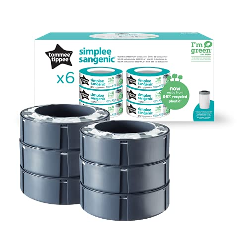 Tommee Tippee Simplee Sangenic Refills, Pack of 6 (compatible with Simplee Sangenic bin only) from TOMMEE TIPPEE