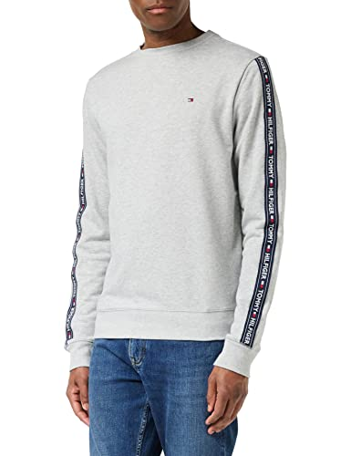 Tommy Hilfiger Men's Track Ls Hwk Sweater, Grey (Grey Heather 004), Large (Manufacturer Size: LG) from Tommy Hilfiger