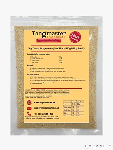 Big Texan Burger Complete Mix - 500g (10kg Batch) from Tongmaster