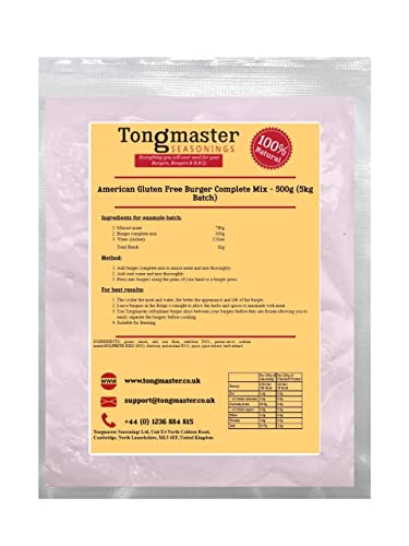 American Burger Seasoning/Complete Mix (500g Complete Mix Gluten Free (5kg Batch)) from Tongmaster